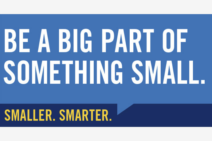 Image of one of Texas Wesleyan's new Smaller. Smarter billboards that says