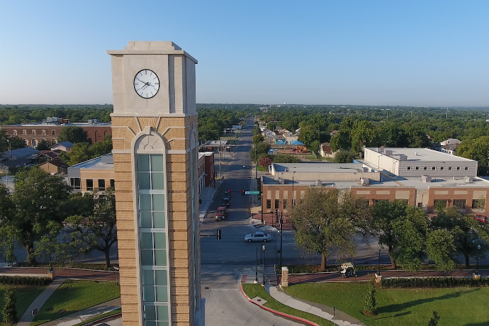 Image of Texas Wesleyan clocktower