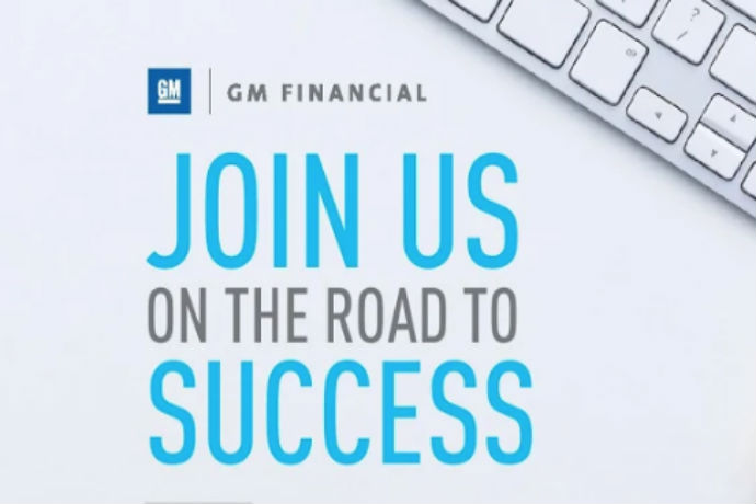 Photo of GM Financial company with the phrase