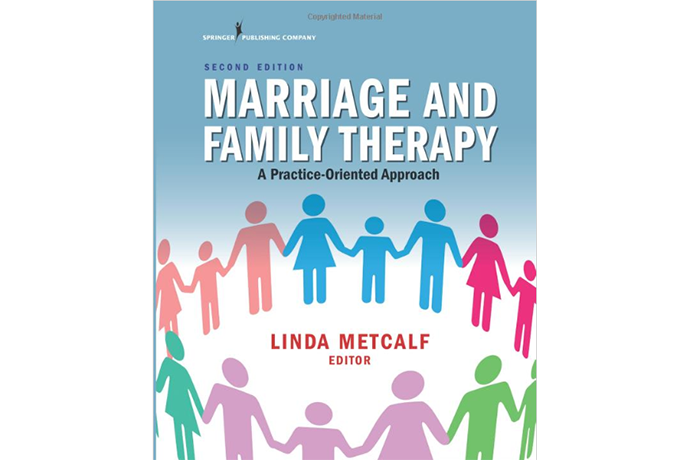 Photo of cover for the book Marriage and Family Therapy, edited by Dr. Linda Metcalf.