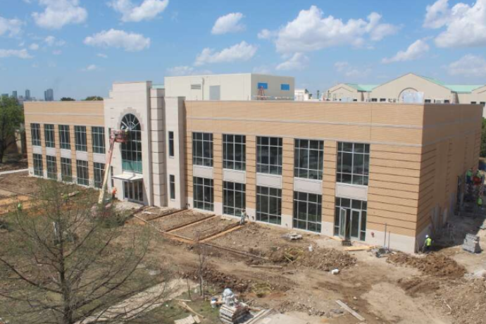 Photo of construction of Martin University Center taken on April 4, 2019.
