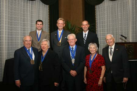 group photo of 2010 medal recipients