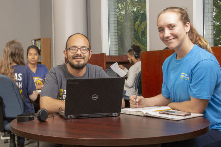 students studying in the Academic Success Center
