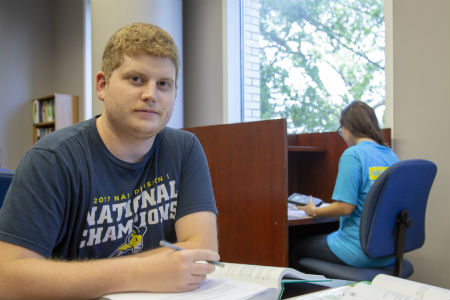 student studying in the Academic Success Center