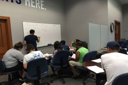 students during a tutoring appointment at the Academic Success Center at Texas Wesleyan