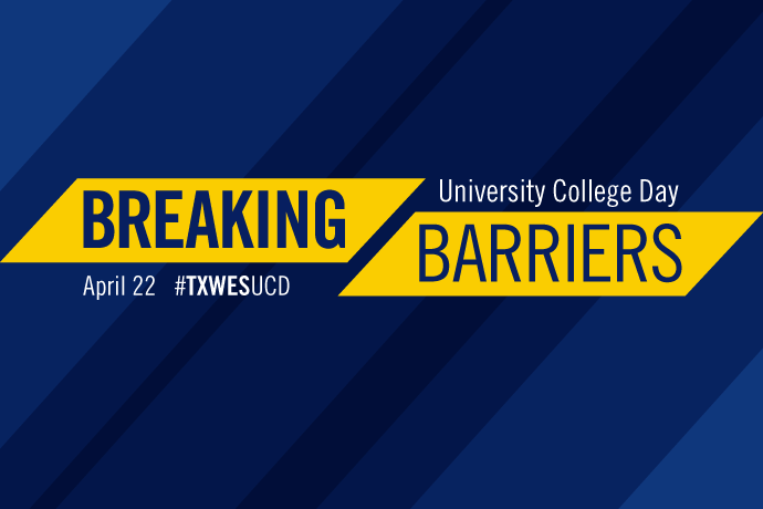 Breaking Barriers graphic for University College Day 2020.