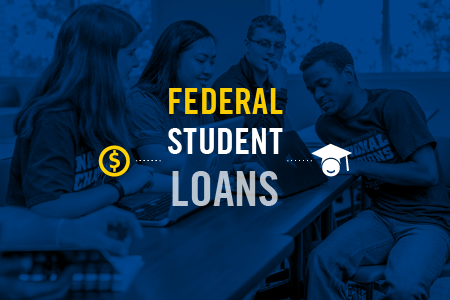 "News story graphic with text ""Federal Student Loan"""