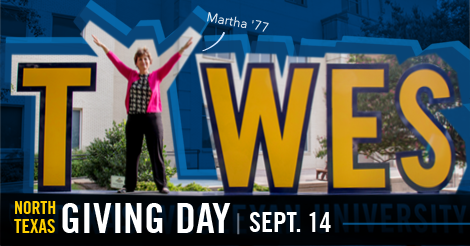 Mark your calendar for North Texas Giving Day and make a gift to Texas Wesleyan