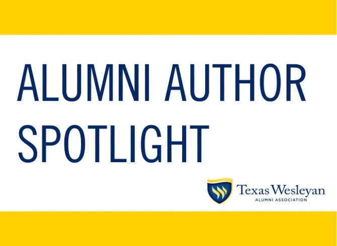 Alumni Author Spotlight graphic for Alumni Association.