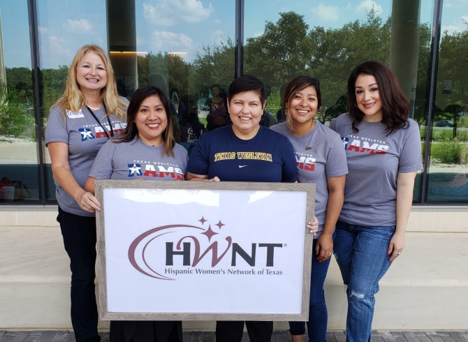 Branigan Contreras and Hispanic Women's Network of Texas