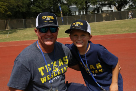 Photo of Texas Wesleyan alumni Mark Ball at a Ram football game