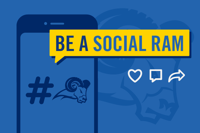 Be a social ram and follow us on social media.