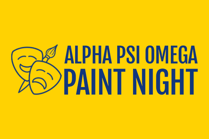 Alpha Psi Omega Paint Night Theatre Wesleyan Graphic