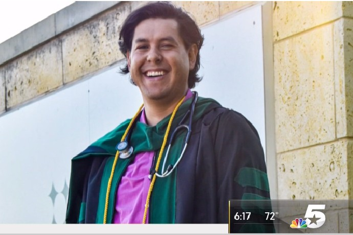 Photo of Gabriel Cecenas '13 after graduating.