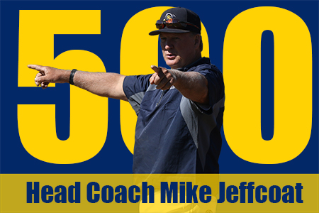 Head Baseball Coach Mike Jeffcoat earned his 500th win on Friday at Bacone.