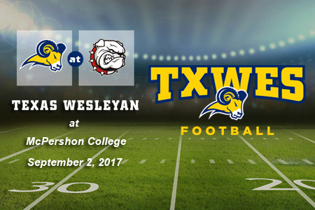 Texas Wesleyan Football opens season at McPherson on September 2, 2017.