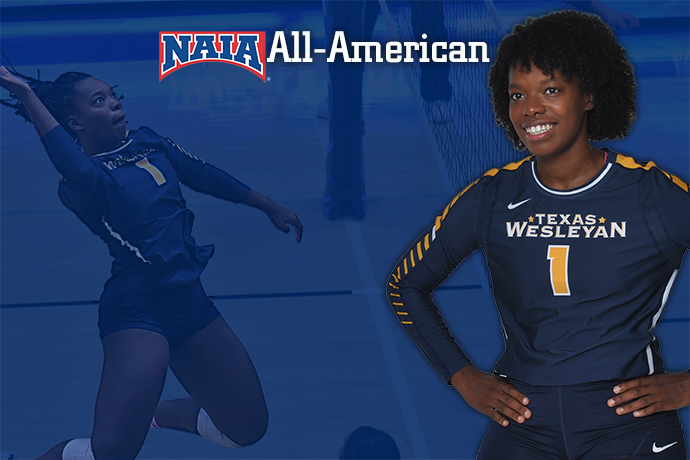 Photo of TXWES women's volleyball player Chastiny Brown.