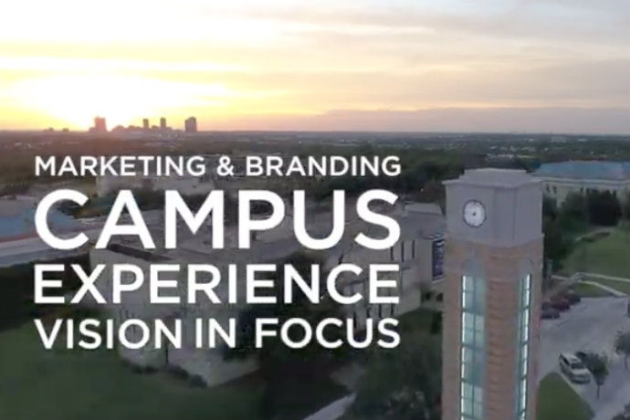 Photo of campus as part of 2020 Vision in Focus video on campus visits