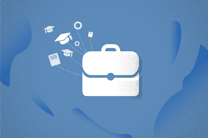 Nbriefcase and other icons like documents and mortar boards