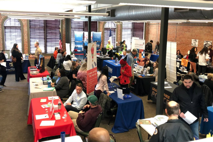 Photo from the March 2019 Career Fair at the Baker Building at TXWES.