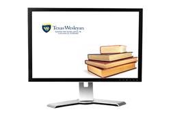 Picture of computer screen with CETL logo and book stack