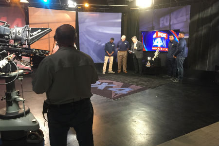 Coach Brennen Shingleton and members of the 2017 NAIA National Championship basketball team were invited to Fox 4 studios for a live interview with Mike Doocy. Watch the video here.