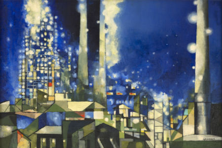 NIGHT GRID (HANDLEY POWER PLANT), 1951