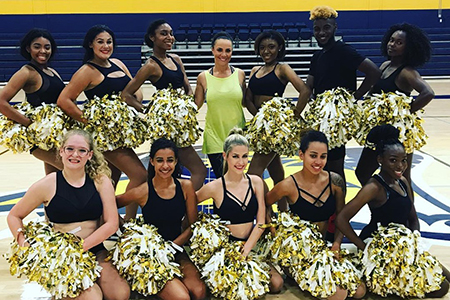 Texas Wesleyan's brand-new Gold Line dance team will perform at home football games this fall.