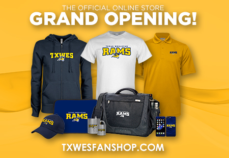 Ram fans now have online access with direct ordering to thousands of Rams merchandise varieties at TXWESFANSHOP.COM, including T-shirts, hoodies, jackets, hats, drinkware, backpacks, jewelry, auto decals, tailgate equipment and more.