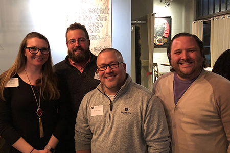 Texas Wesleyan's new online MBA program, which is designed for working adults and can be completed in as little as one year, hosted a holiday meet and greet at Fixture Kitchen and Social Lounge on Dec. 13.