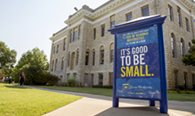 "Take a look at what Texas Wesleyan is doing with their ""Smaller. Smarter."" brand"