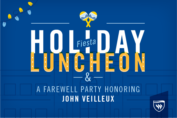 Photo featuring the Holiday Luncheon and farewell celebration honoring John Veilleux.