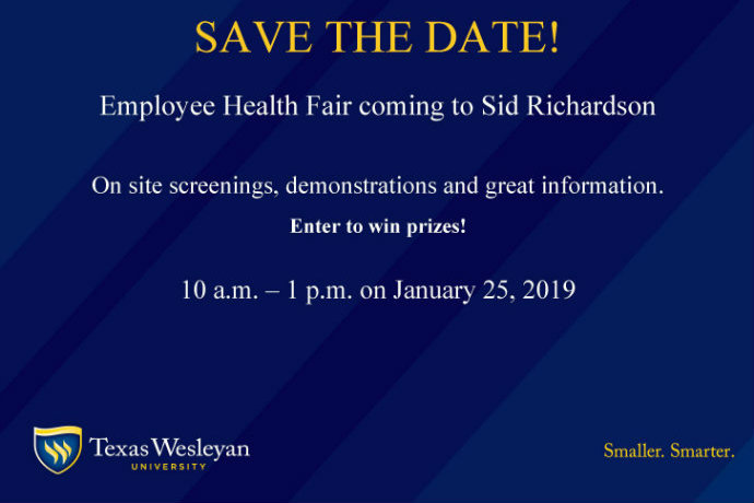 Employee health fair save the date