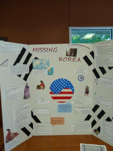 A Display of Korea at the Asian Pacific and Islander American Heritage Month Celebration created by our students longing for home.