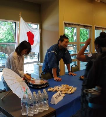 Students from Japan shared their culture and food to the Ramily at this year's Asian Pacific and Islander American Heritage Month Celebration Month.