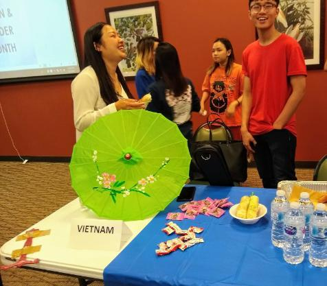 Students from Vietnam shared food and games from their culture. Many enjoyed the different games and delicious food.