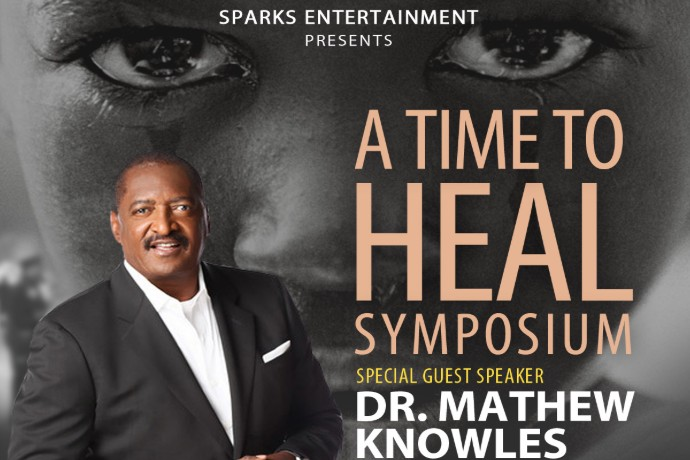 A snipet of the flyer for the A Time To Heal Symposium