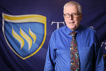 Photo of Texas Wesleyan professor Bruce McDonald