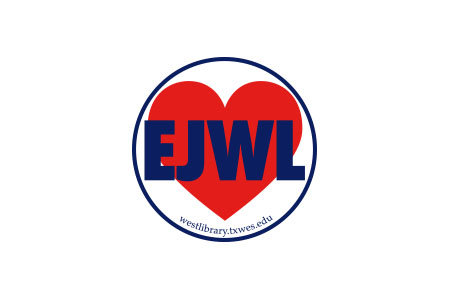 This is an image of a red heart with the letters EJWL in front of the heart