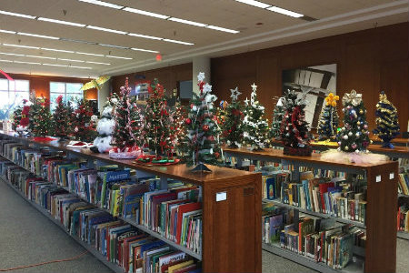 christmas trees on top of juvenile collection