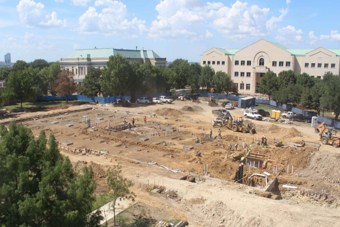 Photo of Martin Center construction taken August 29, 2018.