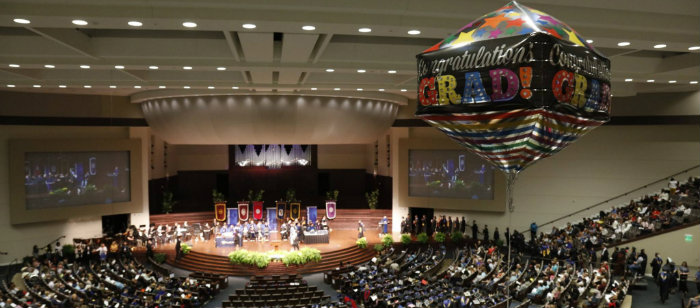 Texas Wesleyan University graduation in Fort Worth, TX.