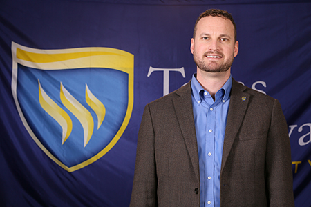 Photo of Texas Wesleyan Religion and Humanities professor Dr. Chad Pevateaux