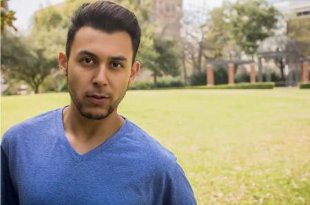 Theatre Business Manager and actor, Jacob Rivera-Sanchez. He is also a graduate of Texas Wesleyan University