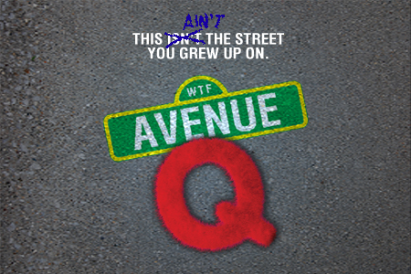 Artwork for Theatre Wesleyan's Avenue Q
