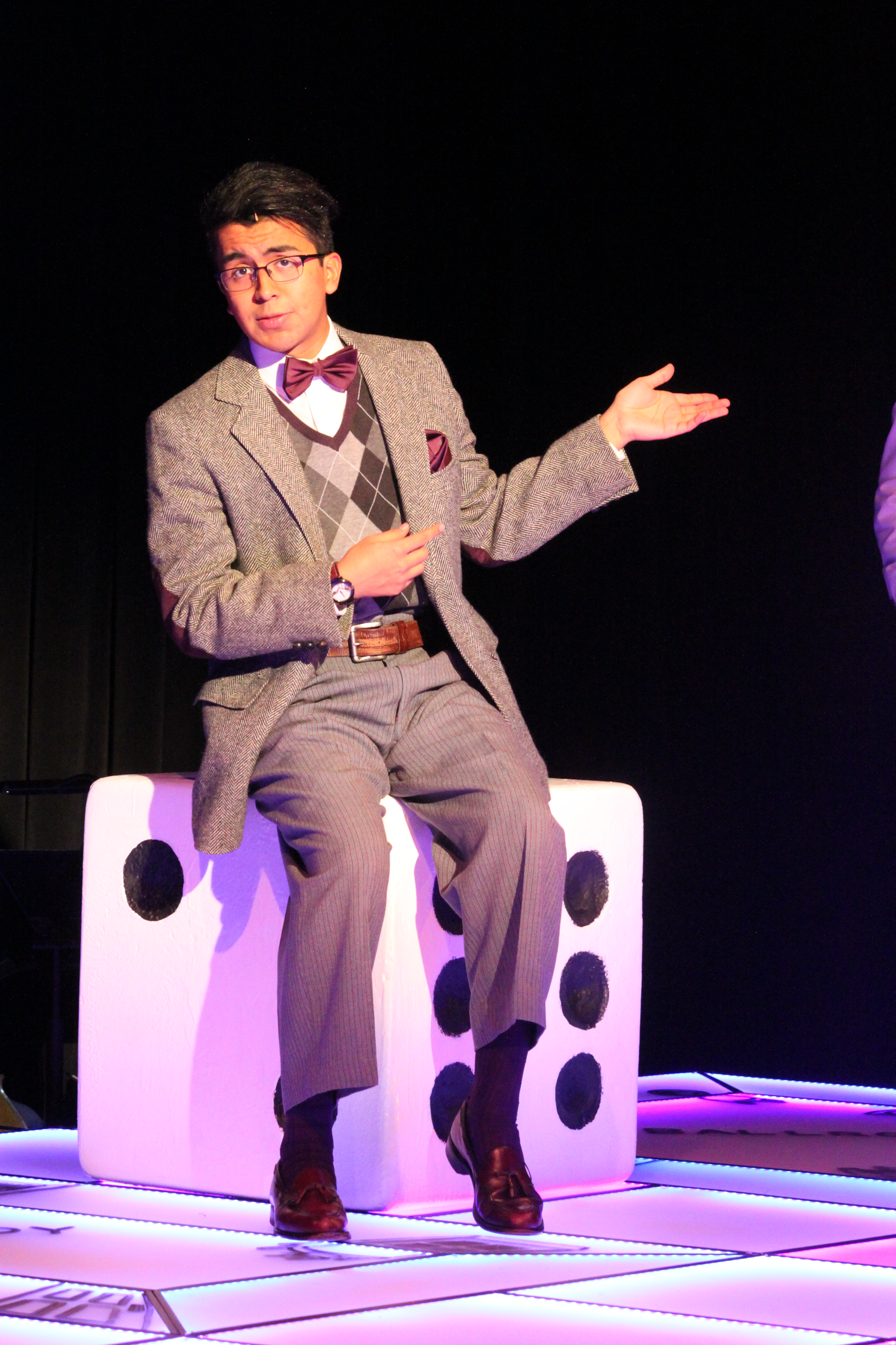 Photo of Trey Cardona in Clue The Musical production