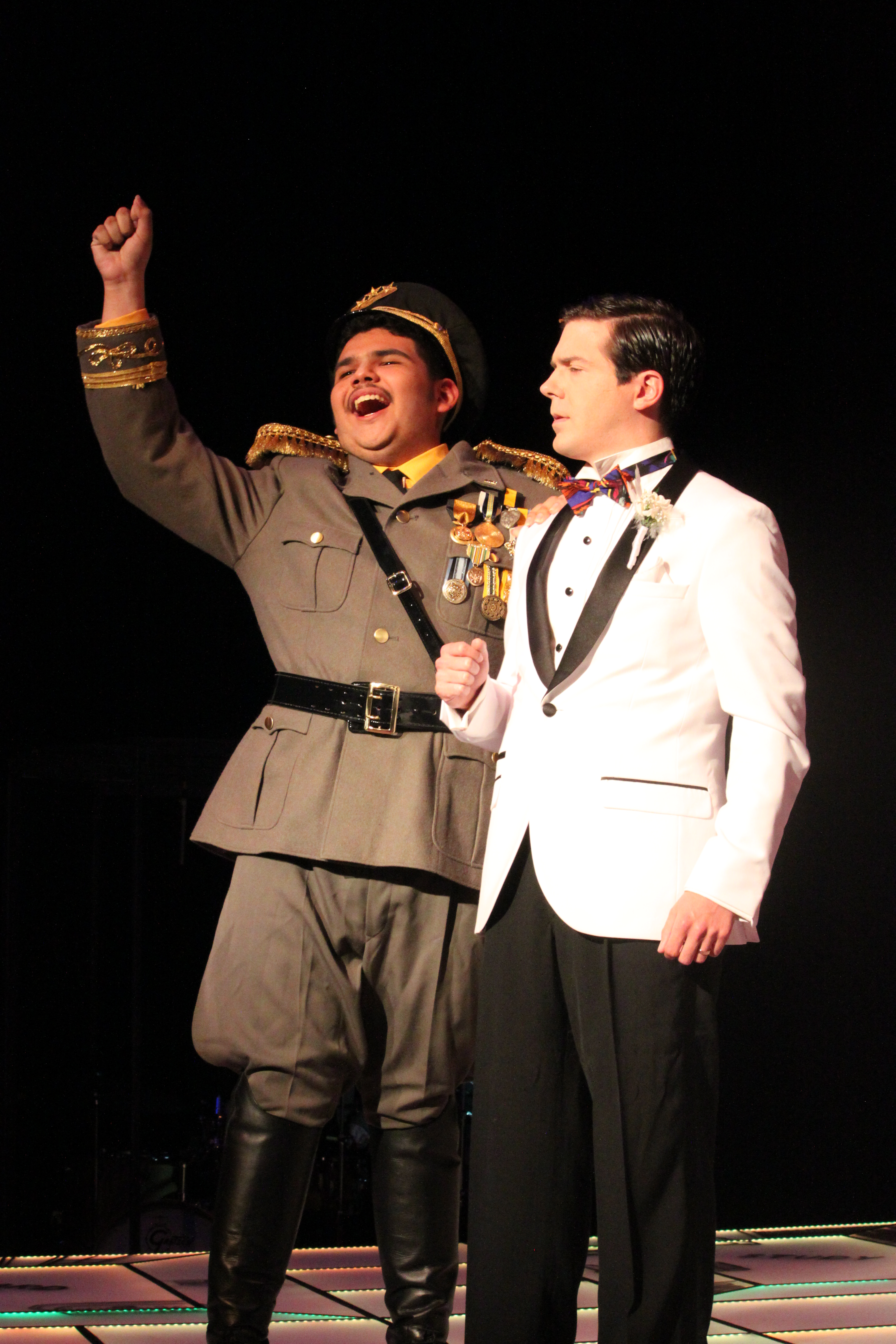 Photo of Logan Rodgers and Eric Nunez in Clue The Musical production