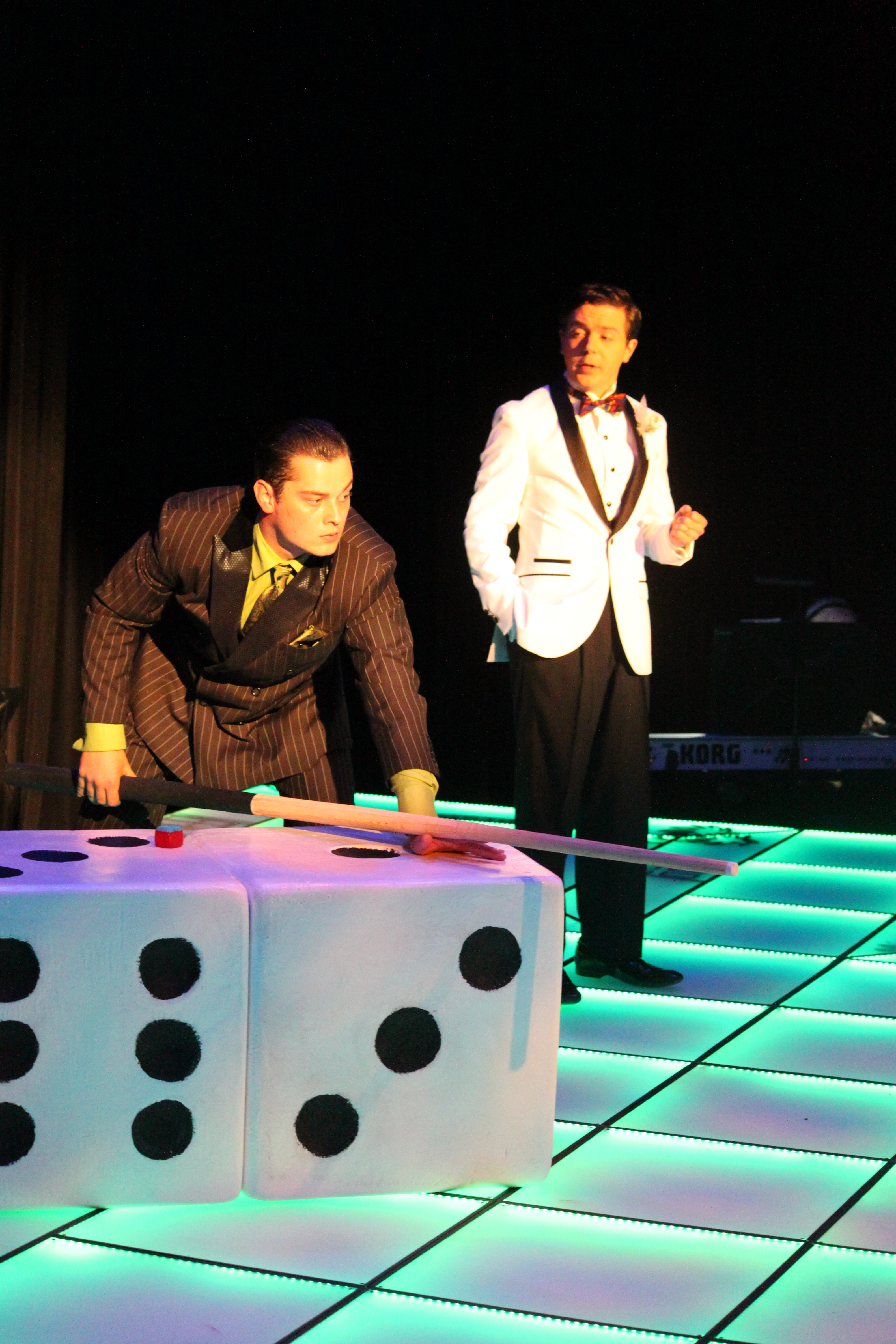 Photo of Logan Rodgers and Colton Mallory in Clue The Musical production