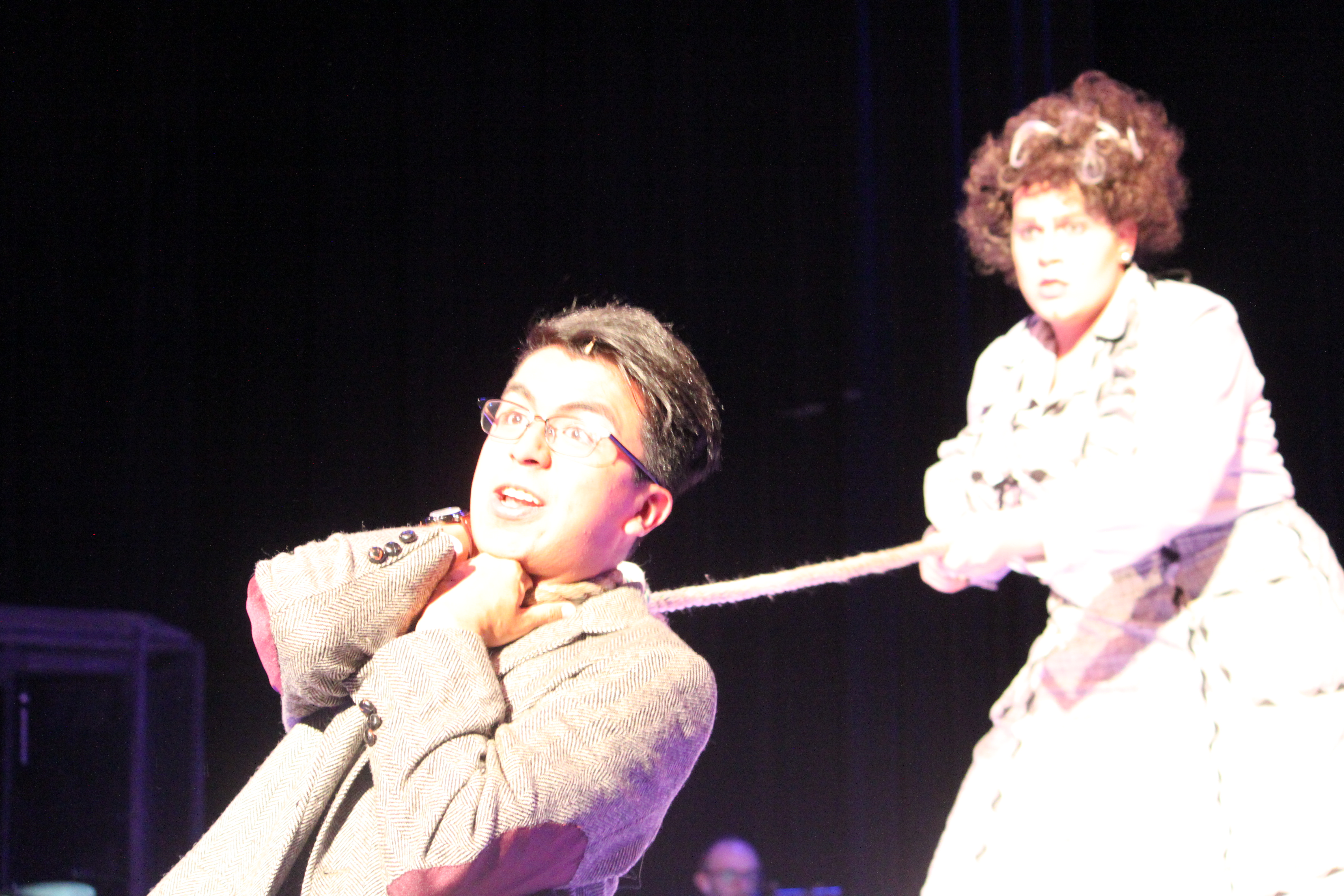 Photo of Trey Cardona and Tyler Guse in Clue The Musical production