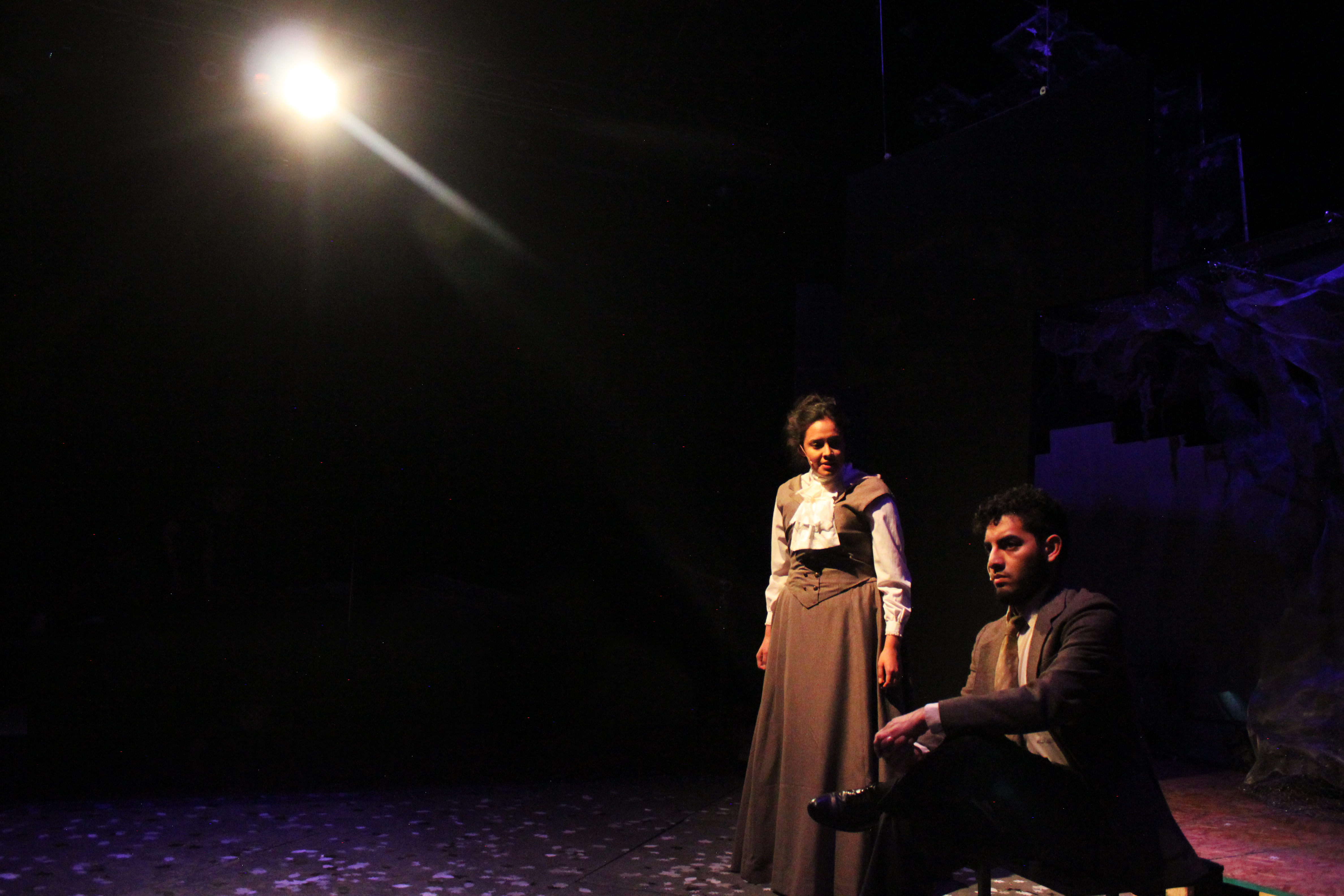 Photo of Crystal Salazar and Alistair Sigala Ramirez in Spring Awakening production